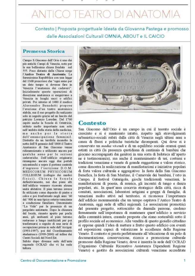 Progetto 2015 Centro di Documentazione e Promozione - Antico Teatro di Anatomia-page-001